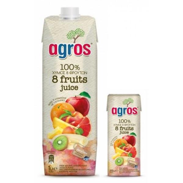 Χυμός 8 Φρούτα 100% 1L