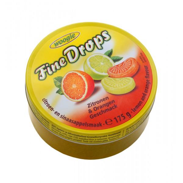 """Fine Drops"" καραμέλες με γεύση πορτοκάλι -λεμόνι 175g"