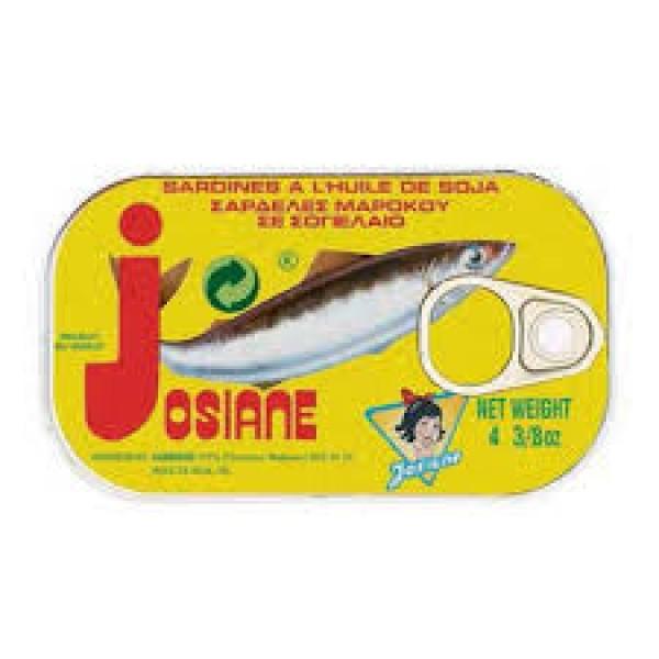 """Σαρδέλες σε φυτικό λάδι  125g """" josiane"""""""