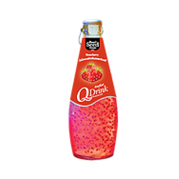 Q Drink  γεύση φράουλα 290ml.