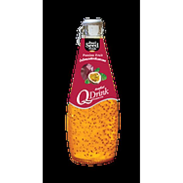 Q Drink Basil Seed   γεύση Passion Fruit 290ml.