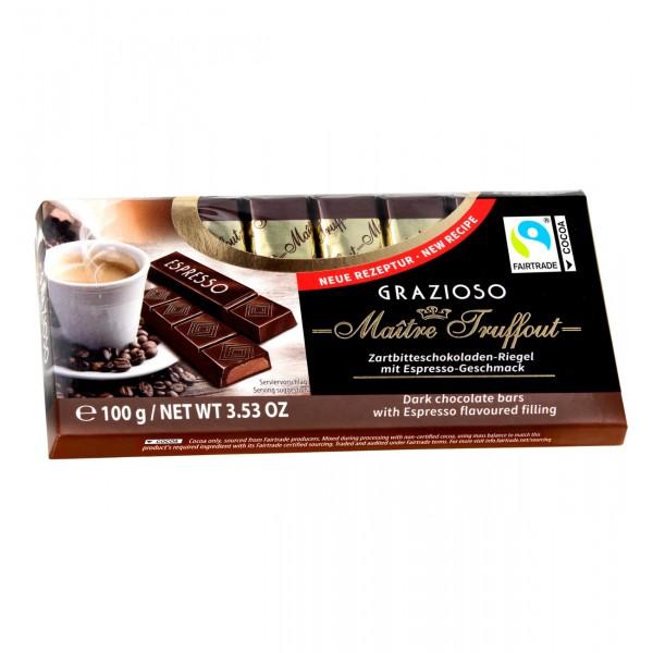Grazioso Μαύρη σοκολάτα  με γεύση  εσπρέσο 100 g (8x12,5g)
