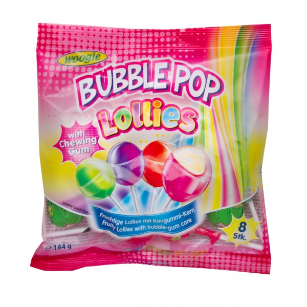 Γλειφιτζούρι Lollies Bubble Pop 144g